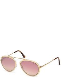 Tom Ford Dashel Brow Bar Aviator Sunglasses