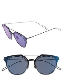 Christian Dior Dior Homme Composit 10s 62mm Metal Shield Sunglasses