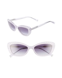 Kendall & Kylie Extreme 55mm Cat Eye Sunglasses