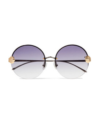 For Art's Sake Goddess Round Frame Silver And Gold Tone Sunglasses