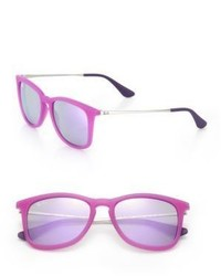 Ray-Ban Junior Injected Mirrored Square Sunglasses