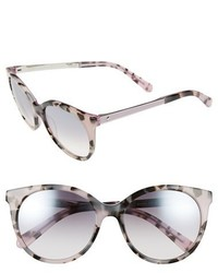 Kate Spade New York Amayas 53mm Cat Eye Sunglasses Lilac Havana