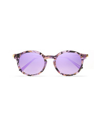 Thierry Lasry Silenty V113 Round Frame Acetate And Gold Tone Sunglasses