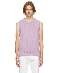 Raf Simons Purple Oversized Knit Vest