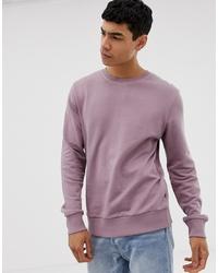 Jack & Jones Essentials Lilac Sweat In 100% Cotton
