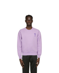 AMI Alexandre Mattiussi Purple Ami De Coeur Sweatshirt