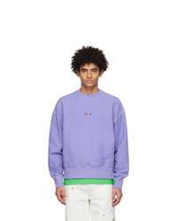 MSGM Purple Terry Micro Logo Sweatshirt