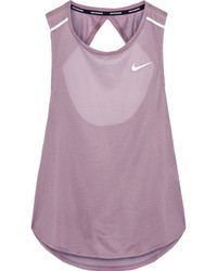 Nike Breathe Open Back Stretch Mesh Tank Lilac