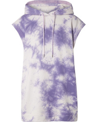 Ninety Percent Oversized Hooded Tie Dyed Organic Cotton Terry Mini Dress