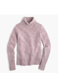 J.Crew Ribbed Turtleneck In Italian Cashmere Donegal