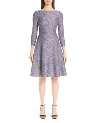 Lela Rose Sequin Tweed Fit Flare Dress