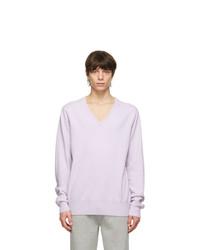 Extreme Cashmere Purple N162 Claim V Neck Sweater