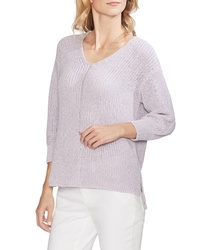 Vince Camuto V Neck Marled Sweater