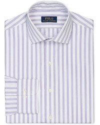 Light Violet Vertical Striped Dress Shirt