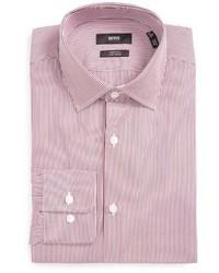 Big tall marley us sharp fit easy iron stripe dress shirt medium 1247675