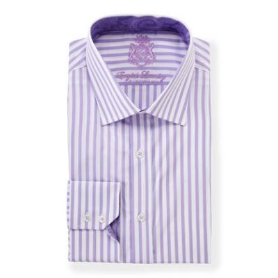 Light violet vertical striped dress shirt english laundry for Purple striped dress shirt