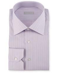 Stefano Ricci Striped Dress Shirt Purple