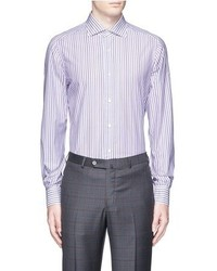 Isaia Milano Stripe Cotton Shirt