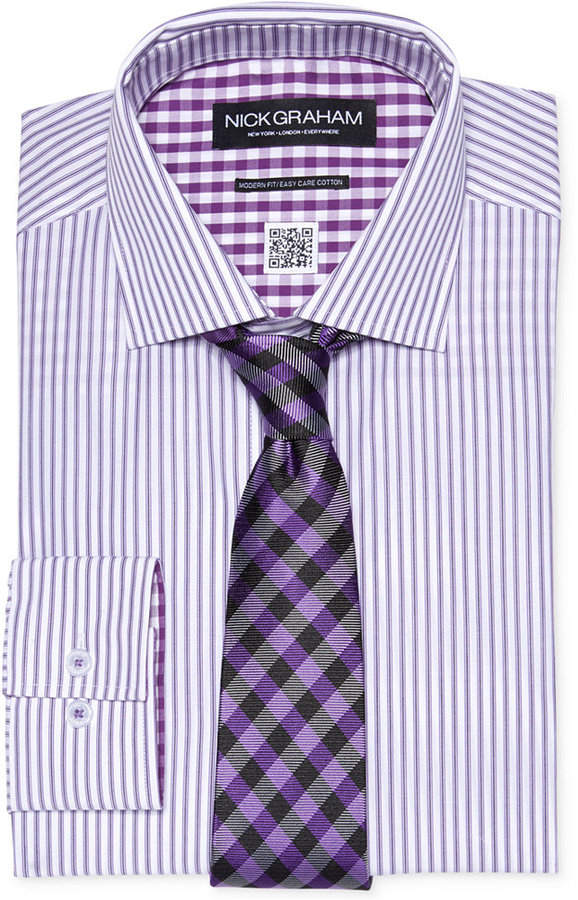 Striped Shirt With Tie Our T Shirt