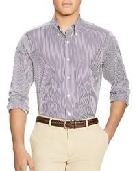 138706b2f6ba30 Men s Light Violet Vertical Striped Long Sleeve Shirts by Polo Ralph ...