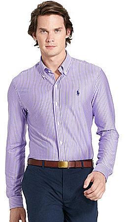Striped Knit Dress Shirt