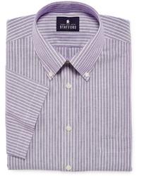 d55d3a4d72 ... jcpenney Stafford Travel Short Sleeve Wrinkle Free Oxford Dress Shirt