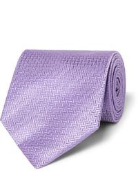 Light Violet Vertical Striped Tie