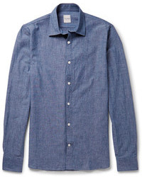Blue jeans and a button-down shirt feel perfectly suited for weekend activities of all kinds.