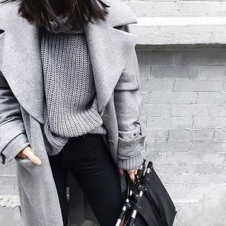 Abrigo punto gris