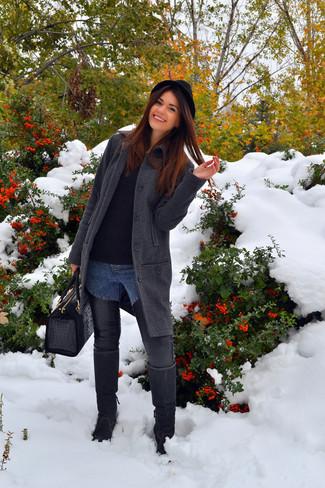espiguilla un abrigo un con negro de combinar de lana sombrero Cómo pUnqBvww1