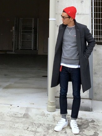 Jersey con cuello circular gris de Roberto Collina