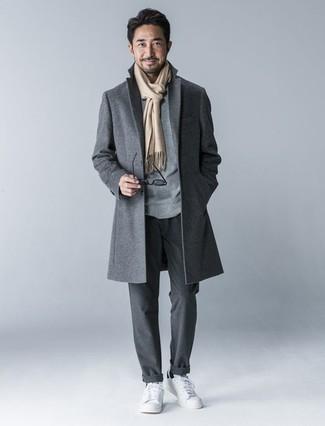 Abrigo largo gris de Soulland