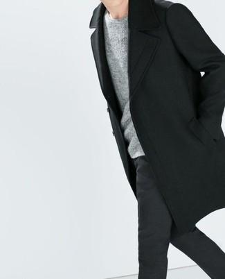 Jersey con cuello circular gris de Maison Martin Margiela