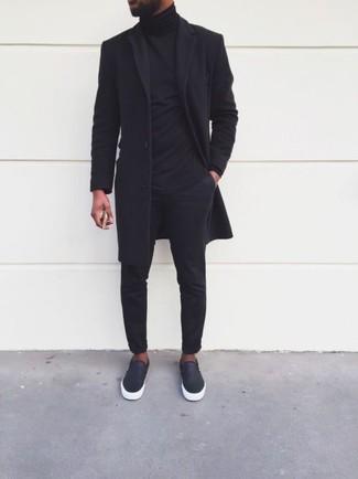 Zapatillas slip-on de cuero negras de Prada