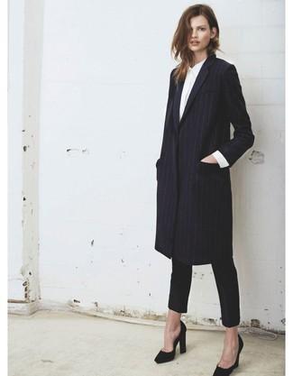 Camisa Cómo Abrigo Blanca De 30 Vestir Un Combinar Una Con Negro f77xZg