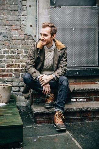 Grenson Balmoral Leather Oxford Brogue Boots