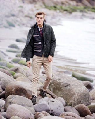 How to Wear a Navy Fair Isle Shawl Cardigan (10 looks) | Men's Fashion