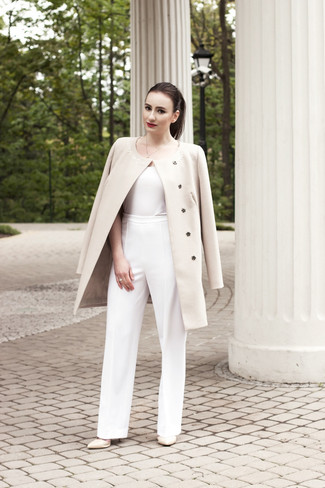White Wide Leg Pants | Women's Fashion
