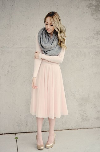 How to wear a beige midi skirt 17 looks women 39 s fashion - Beige kombinieren ...