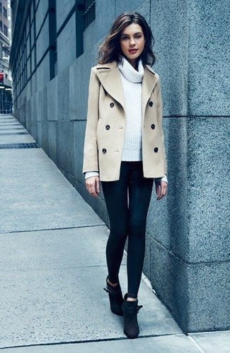 How to Wear a Beige Pea Coat (23 looks) | Women's Fashion