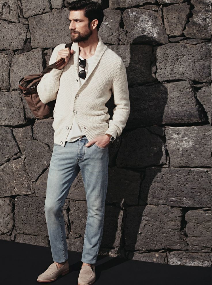 How to Wear a Beige Shawl Cardigan (32 looks) | Men's Fashion