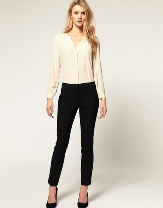 Slim Fit Ribbed Trousers