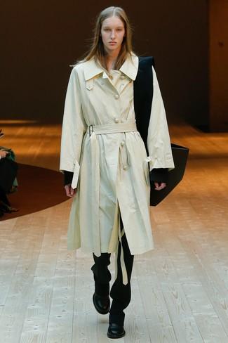25566165d1 H&M Trenchcoat Light Beige Ladies, $69 | H & M | Lookastic.com