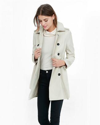 Heritage Ribbon Cotton Gabardine Trench Coat