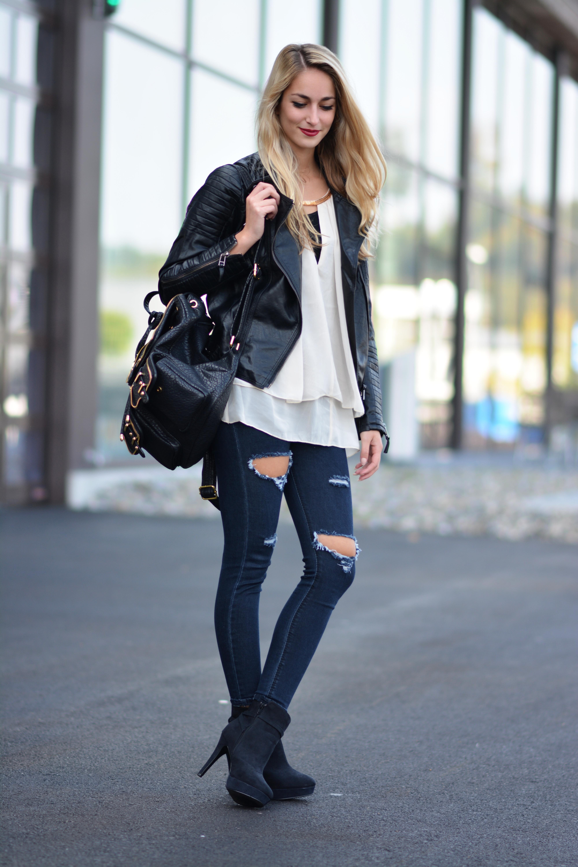 Biker Jacket Backpack Skinny