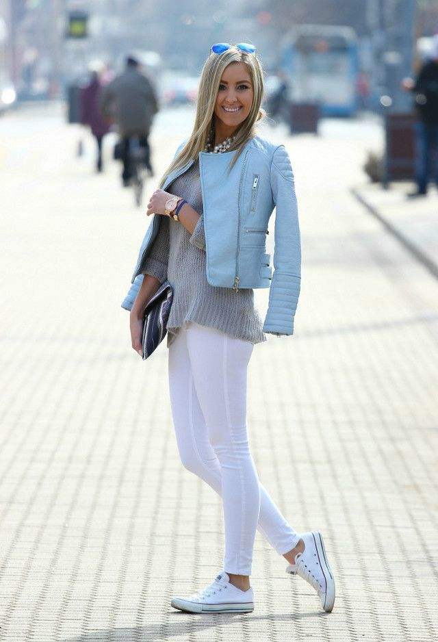 How to Wear White Leggings (6 looks) | Women's Fashion