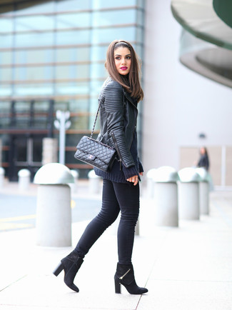 Marc New York By Ginny Faux Leather Moto Jacket