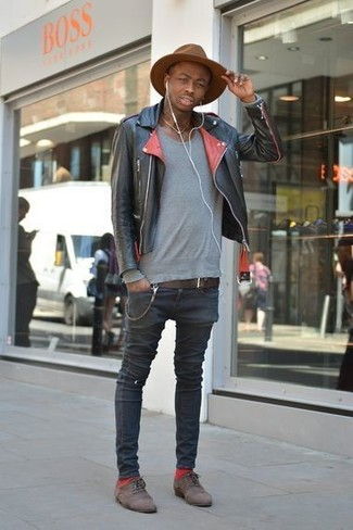 Brown Shoes With Black Jacket - Pl Jackets