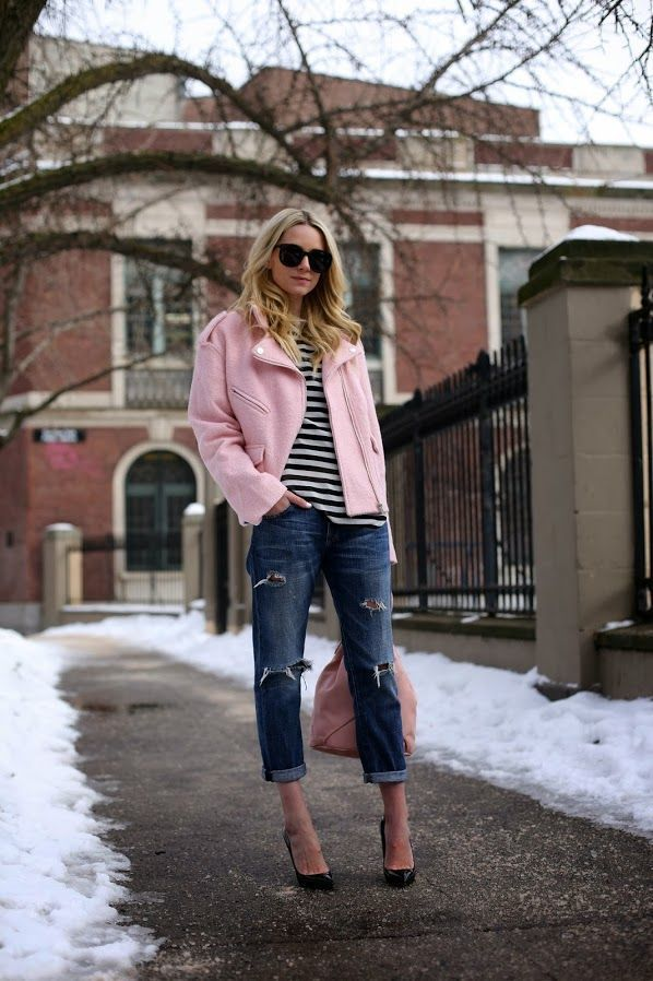 e079dd24bc28 How to Wear a Pink Biker Jacket For Women (23 looks   outfits ...