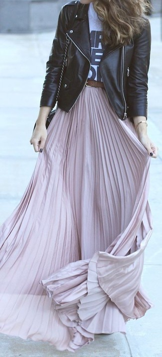 Alice You Light Pink Pleated Maxi Skirt 55 Dorothy Perkins